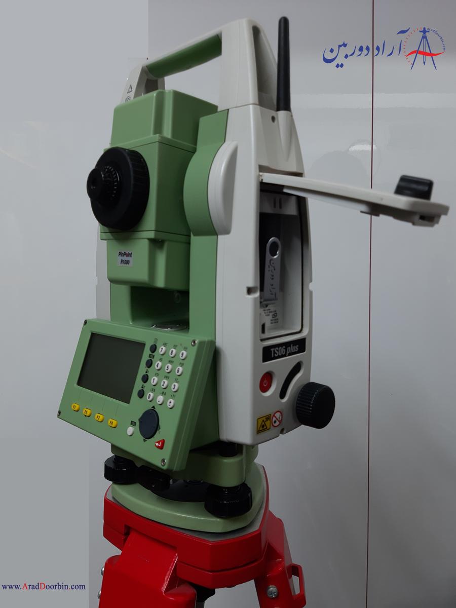 دوربین نقشه برداری توتال استیشن لایکا  TS06 PLUS R1000